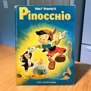 Vintage 1975 Pinocchio Big Golden Book Disney